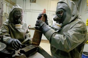 U.S TO BUILD MACHINES TO DESTROY CHEMICAL WEAPONS SAFELY