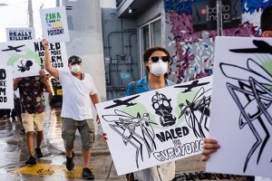 PROTEST AGAINST ZIKA PESTICIDE 'NALED'