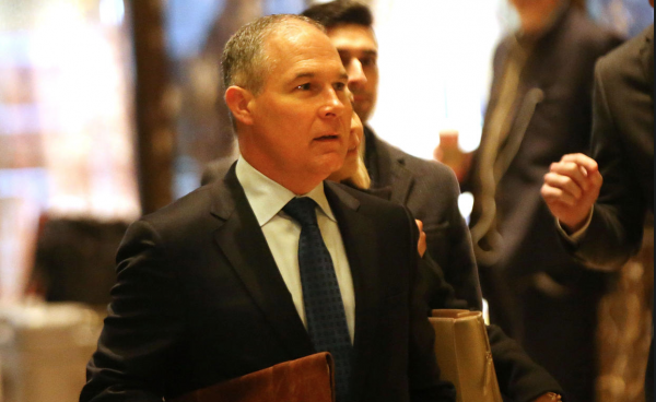 "TRUMP'S EPA PICK SCOTT PRUITT SIGNALS ""180-DEGREE SHIFT IN AGENCY"""